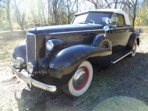1937 LaSalle Dual Sidemount/Rumble Seat Convertible For Sale
