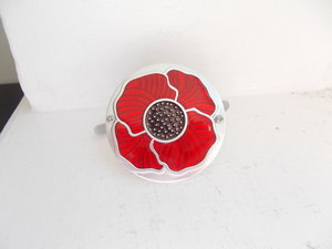 2019 POPPY GRILLE BADGE WITH FIXINGS  For Sale