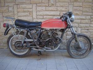 "1974 Morini 350 Strada first serie ""drum brakes"""