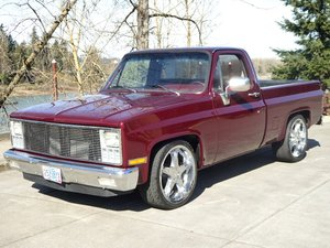 1982 GMC Pick-UP Truck = a Strong 350 auto Maroon = $17.5k For Sale