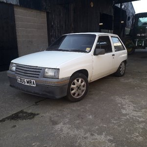 **APRIL AUCTION**1985 Vauxhall Nova SR & Nova shell SOLD by Auction