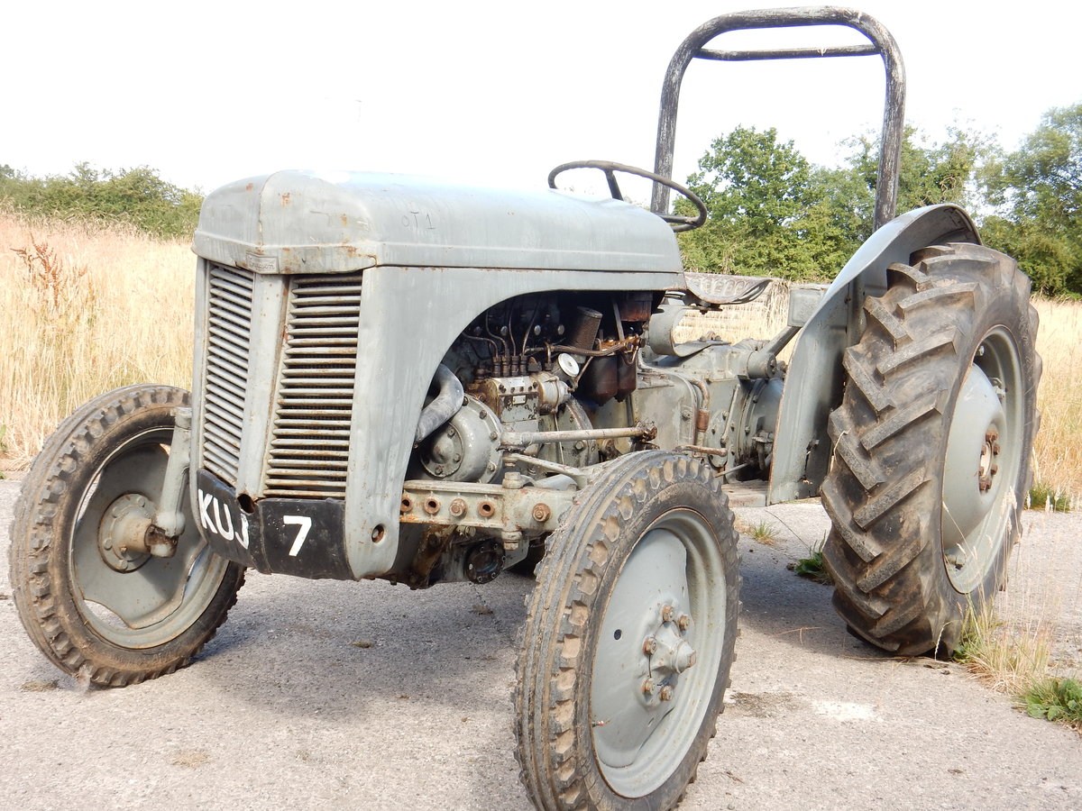MASSEY FERGUSON GREY FERGIE 2092cc 4 CYLINDER DIESEL 1953 RE For Sale (picture 1 of 3)