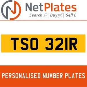 TSO 321R PERSONALISED PRIVATE CHERISHED DVLA NUMBER PLATE For Sale
