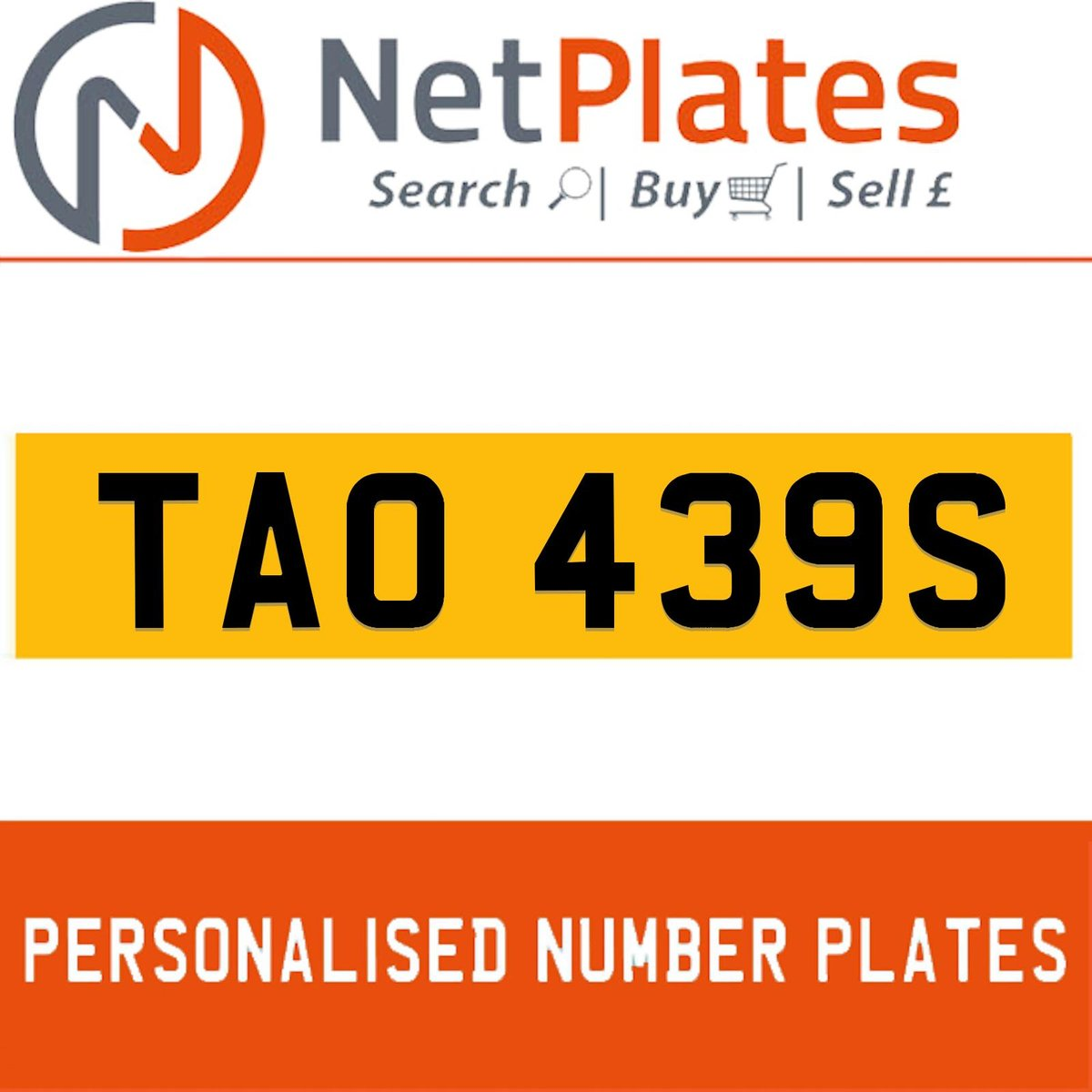TAO 439S PERSONALISED PRIVATE CHERISHED DVLA NUMBER PLATE For Sale (picture 1 of 5)