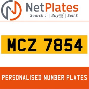 MCZ 7854 PERSONALISED PRIVATE CHERISHED DVLA NUMBER PLATE