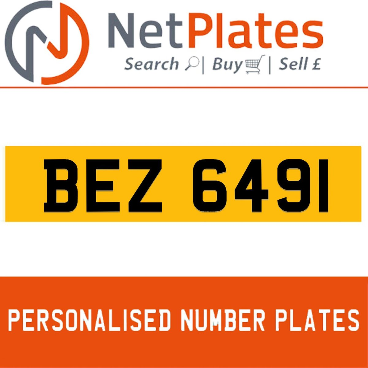 BEZ 6491 PERSONALISED PRIVATE CHERISHED DVLA NUMBER PLATE For Sale (picture 1 of 5)