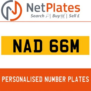 NAD 66M PERSONALISED PRIVATE CHERISHED DVLA NUMBER PLATE