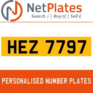 HEZ 7797 PERSONALISED PRIVATE CHERISHED DVLA NUMBER PLATE