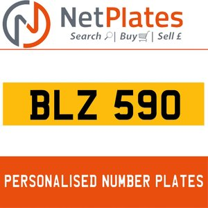 BLZ 590 PERSONALISED PRIVATE CHERISHED DVLA NUMBER PLATE For Sale