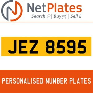 JEZ 8595 PERSONALISED PRIVATE CHERISHED DVLA NUMBER PLATE For Sale