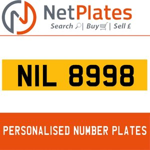 NIL 8998 PERSONALISED PRIVATE CHERISHED DVLA NUMBER PLATE For Sale