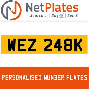 WEZ 248K  PERSONALISED PRIVATE CHERISHED DVLA NUMBER PLATE For Sale