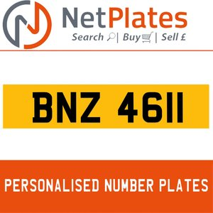 BNZ 4611 PERSONALISED PRIVATE CHERISHED DVLA NUMBER PLATE For Sale