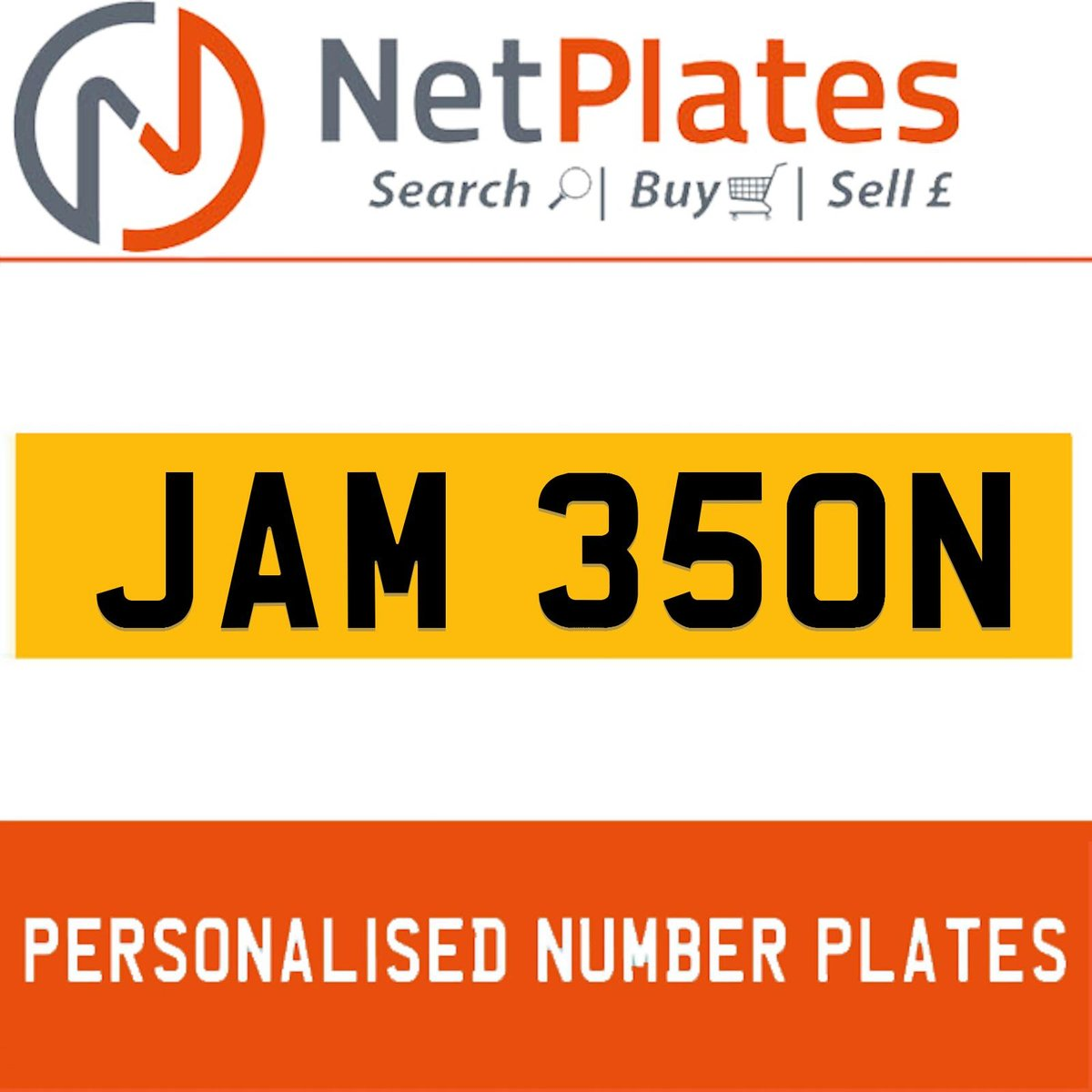 JAM 350N PERSONALISED PRIVATE CHERISHED DVLA NUMBER PLATE For Sale (picture 1 of 5)