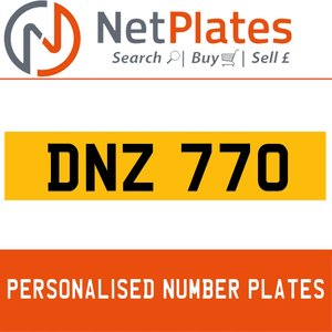 DNZ 770 PERSONALISED PRIVATE CHERISHED DVLA NUMBER PLATE