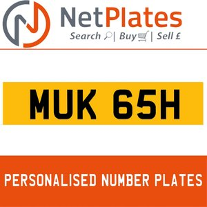 MUK 65H PERSONALISED PRIVATE CHERISHED DVLA NUMBER PLATE For Sale