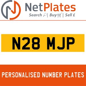 N28 MJP PERSONALISED PRIVATE CHERISHED DVLA NUMBER PLATE