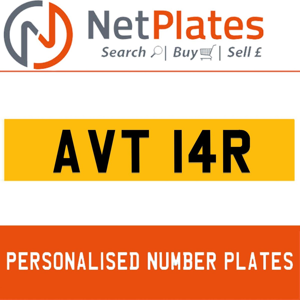 AVT 14R PERSONALISED PRIVATE CHERISHED DVLA NUMBER PLATE For Sale (picture 1 of 5)