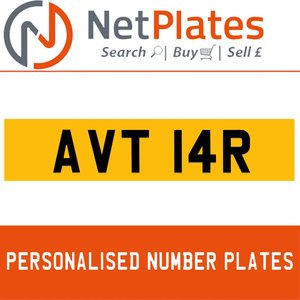 AVT 14R PERSONALISED PRIVATE CHERISHED DVLA NUMBER PLATE