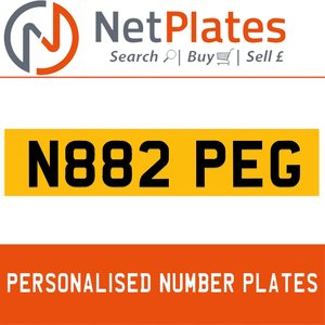 N882 PEG PERSONALISED PRIVATE CHERISHED DVLA NUMBER PLATE For Sale