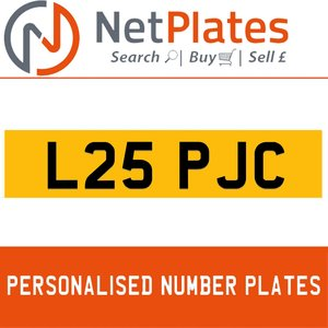 L25 PJC PERSONALISED PRIVATE CHERISHED DVLA NUMBER PLATE For Sale
