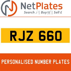 RJZ 660 PERSONALISED PRIVATE CHERISHED DVLA NUMBER PLATE For Sale