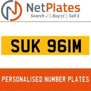 SUK 961M PERSONALISED PRIVATE CHERISHED DVLA NUMBER PLATE For Sale