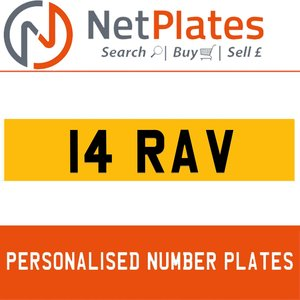 14 RAV PERSONALISED PRIVATE CHERISHED DVLA NUMBER PLATE For Sale