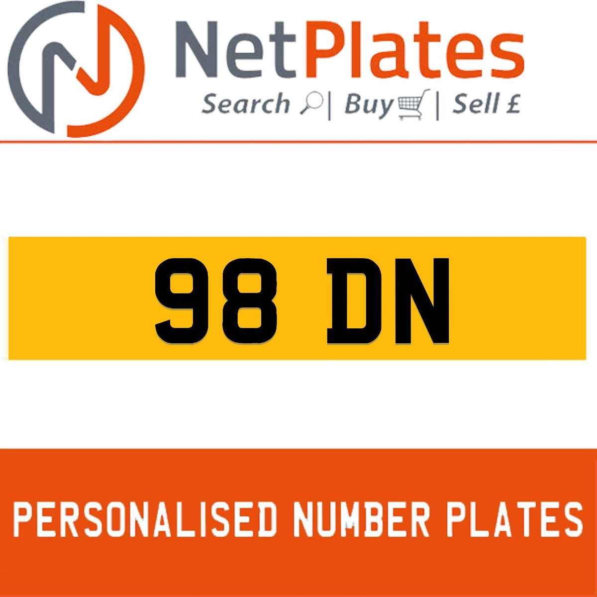 98 DN PERSONALISED PRIVATE CHERISHED DVLA NUMBER PLATE For Sale (picture 1 of 5)