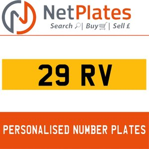 29 RV PERSONALISED PRIVATE CHERISHED DVLA NUMBER PLATE For Sale