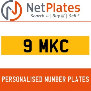 9 MKC PERSONALISED PRIVATE CHERISHED DVLA NUMBER PLATE