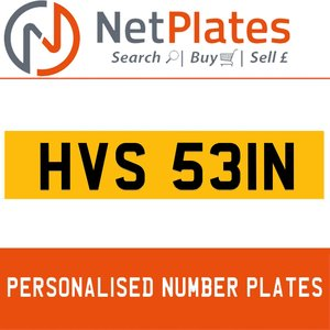 HVS 531N PERSONALISED PRIVATE CHERISHED DVLA NUMBER PLATE For Sale