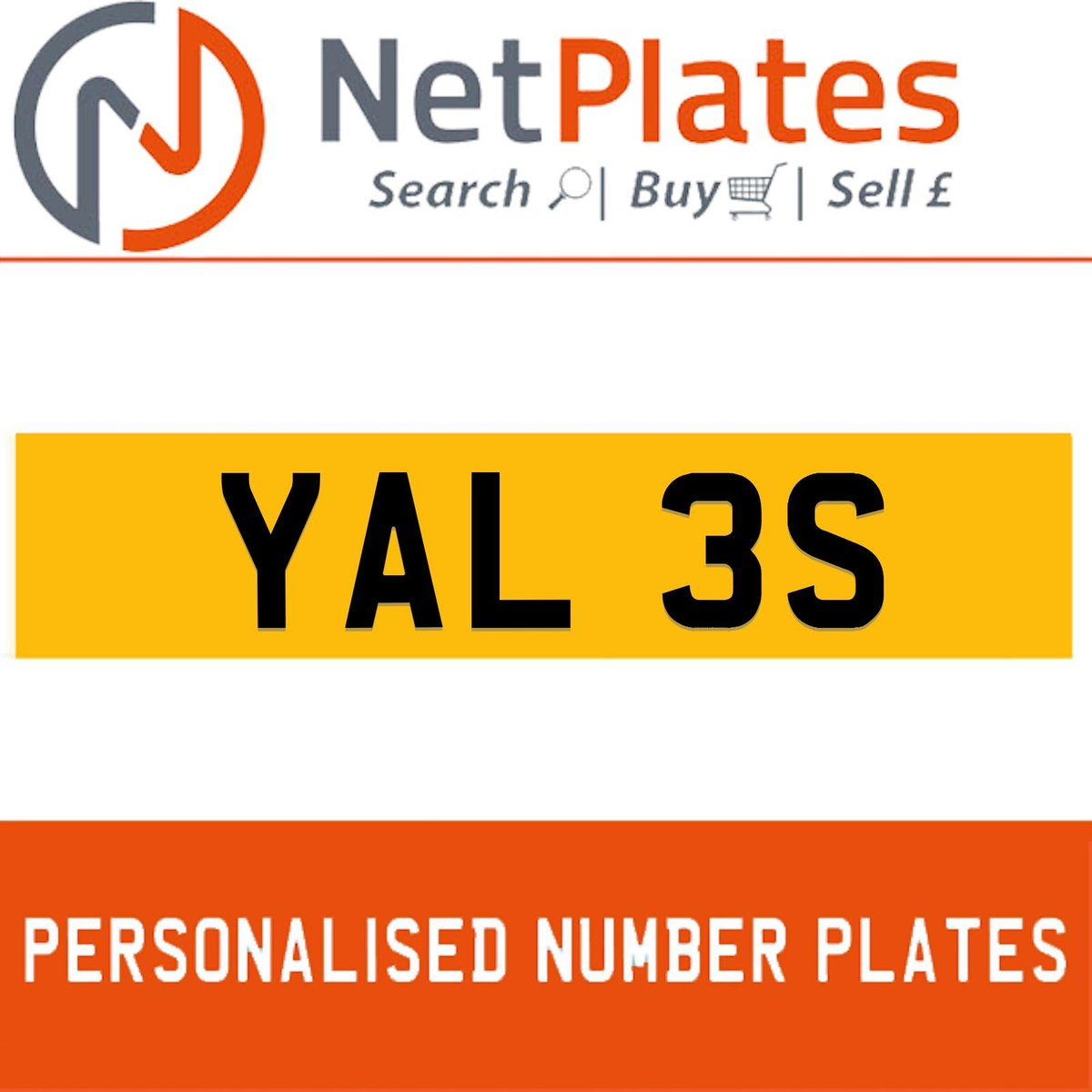 YAL 3S PERSONALISED PRIVATE CHERISHED DVLA NUMBER PLATE For Sale (picture 1 of 5)