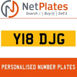 Y18 DJG PERSONALISED PRIVATE CHERISHED DVLA NUMBER PLATE For Sale