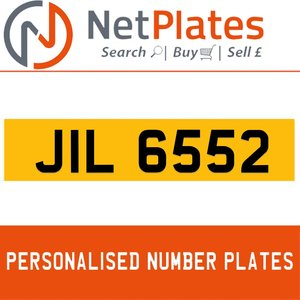 JIL 6552 PERSONALISED PRIVATE CHERISHED DVLA NUMBER PLATE For Sale