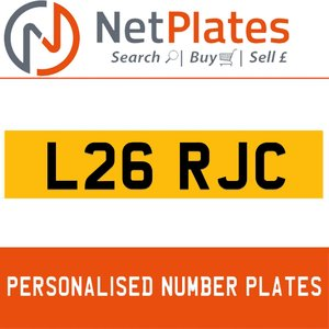 L26 PJC PERSONALISED PRIVATE CHERISHED DVLA NUMBER PLATE