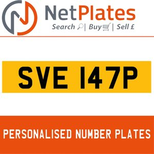 SVE 147P PERSONALISED PRIVATE CHERISHED DVLA NUMBER PLATE