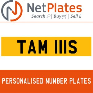 TAM 111S PERSONALISED PRIVATE CHERISHED DVLA NUMBER PLATE For Sale