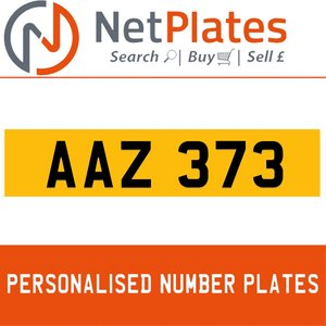 AAZ 373 PERSONALISED PRIVATE CHERISHED DVLA NUMBER PLATE For Sale
