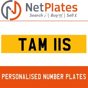 TAM 11S PERSONALISED PRIVATE CHERISHED DVLA NUMBER PLATE For Sale