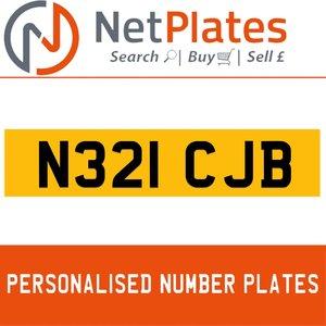 N321 CJB PERSONALISED PRIVATE CHERISHED DVLA NUMBER PLATE