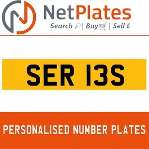 SER 13S PERSONALISED PRIVATE CHERISHED DVLA NUMBER PLATE
