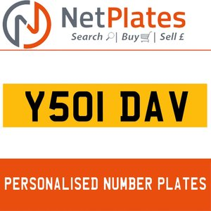 Y051 DAV PERSONALISED PRIVATE CHERISHED DVLA NUMBER PLATE For Sale