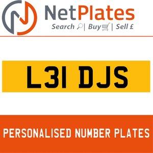L31 DJS ERSONALISED PRIVATE CHERISHED DVLA NUMBER PLATE For Sale