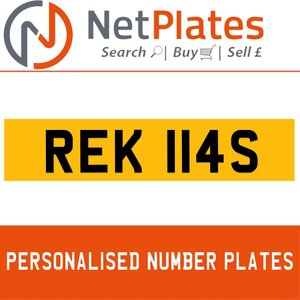 Picture of REK 114S PERSONALISED PRIVATE CHERISHED DVLA NUMBER PLATE For Sale