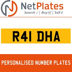 R41 DHA PERSONALISED PRIVATE CHERISHED DVLA NUMBER PLATE For Sale