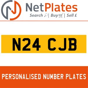 N24 CJB PERSONALISED PRIVATE CHERISHED DVLA NUMBER PLATE For Sale