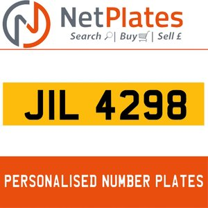 JIL 4298 PERSONALISED PRIVATE CHERISHED DVLA NUMBER PLATE