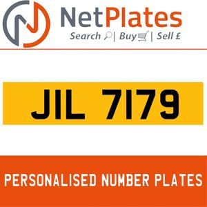 JIL 7179 PERSONALISED PRIVATE CHERISHED DVLA NUMBER PLATE For Sale