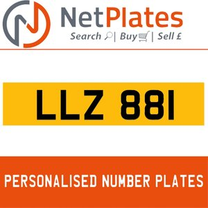 LLZ 881 PERSONALISED PRIVATE CHERISHED DVLA NUMBER PLATE For Sale